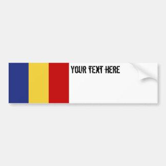 Bandera de Rumania Pegatina Para Coche
