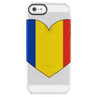 Bandera de Rumania simple Funda Transparente Para iPhone SE/5/5s