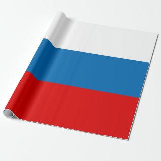 Bandera de Rusia Papel De Regalo