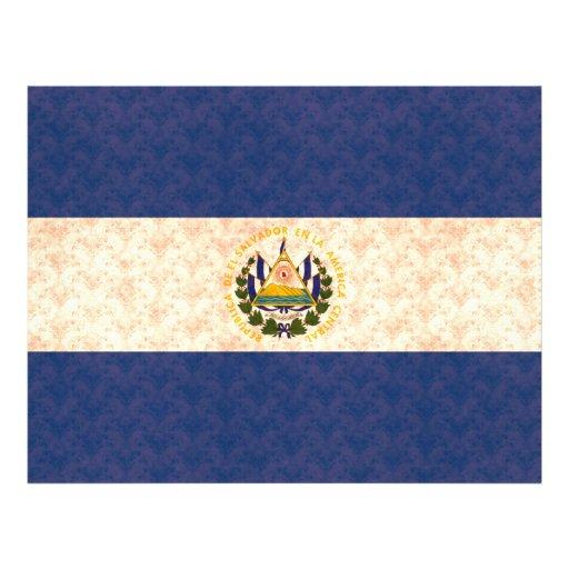 Bandera de salvadoreño del modelo del vintage tarjeta publicitaria