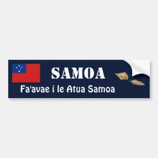 Bandera de Samoa + Pegatina para el parachoques de Pegatina Para Coche