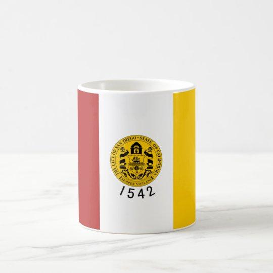 Bandera de San Diego Taza De Café