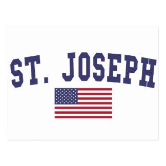 Bandera de San José los E.E.U.U. Postal