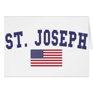 Bandera de San José los E.E.U.U. Tarjeta De Felicitación