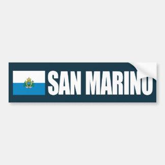 Bandera de San Marino Pegatina Para Coche