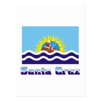 Bandera de Santa Cruz con nombre Postal
