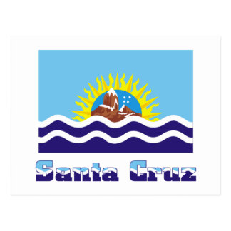 Bandera de Santa Cruz con nombre Tarjetas Postales