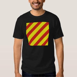 Bandera de señal del yanqui (y) camiseta