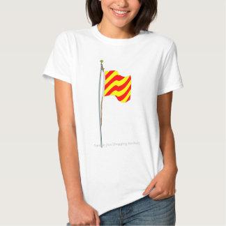 Bandera de señal náutica de fricción del ancla del camiseta