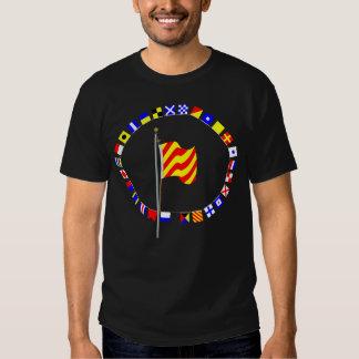 Bandera de señal náutica de fricción del ancla del camisetas