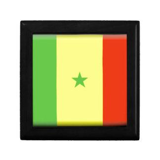 Bandera de Senegal Joyero Cuadrado Pequeño