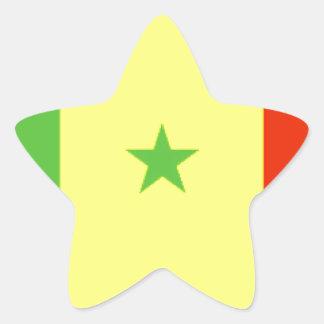 Bandera de Senegal Pegatina En Forma De Estrella