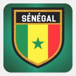 Bandera de Sénégal Pegatina Cuadrada