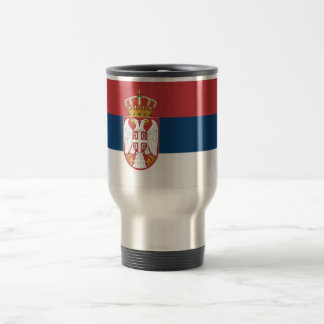 Bandera de Serbia Taza De Viaje