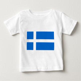 Bandera de Shetland Camiseta De Bebé
