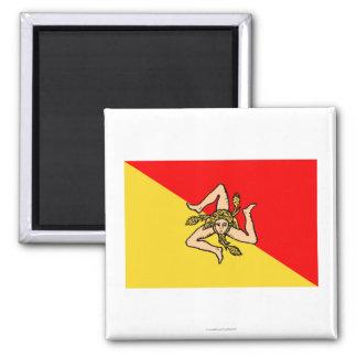 Bandera de Sicilia Imanes De Nevera