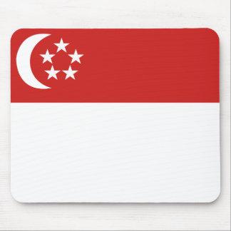 Bandera de Singapur Alfombrilla De Ratón