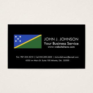 Bandera de Solomon Island Tarjeta De Visita
