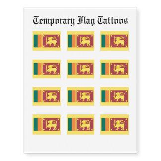 Bandera de Sri Lanka Tatuajes Temporales