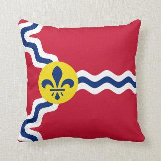 Bandera de St. Louis, Missouri Cojín Decorativo