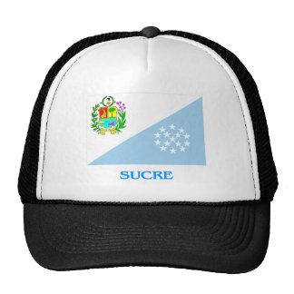 Bandera de Sucre con nombre Gorros Bordados