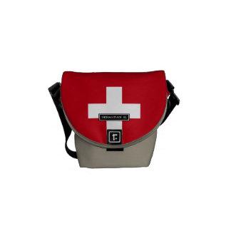 Bandera de Suiza Bolsa De Mensajeria