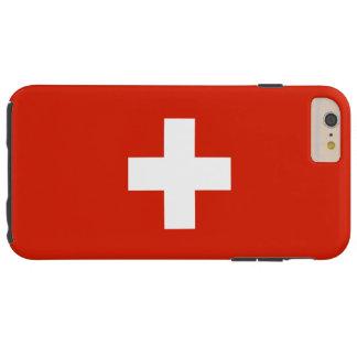 Bandera de Suiza Funda De iPhone 6 Plus Tough
