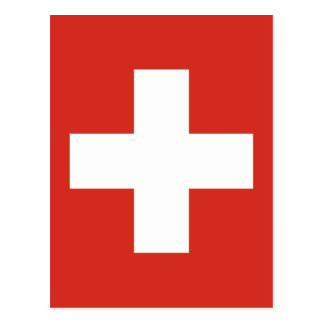 Bandera de Suiza - muere el der Schwe de Postal