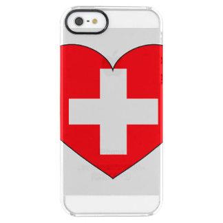 Bandera de Suiza simple Funda Transparente Para iPhone SE/5/5s