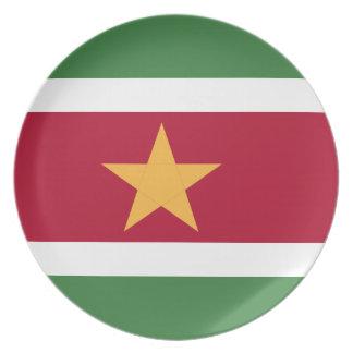 Bandera de Suriname Plato