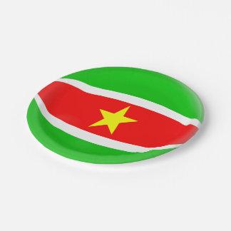Bandera de Suriname Plato De Papel