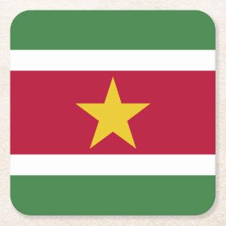 Bandera de Suriname Posavasos De Papel Cuadrado