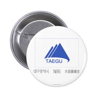 Bandera de Taegu con nombre Chapa Redonda De 5 Cm