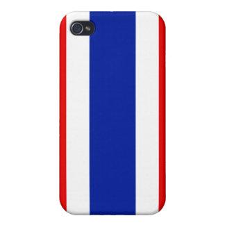 Bandera de Tailandia iPhone 4 Carcasas