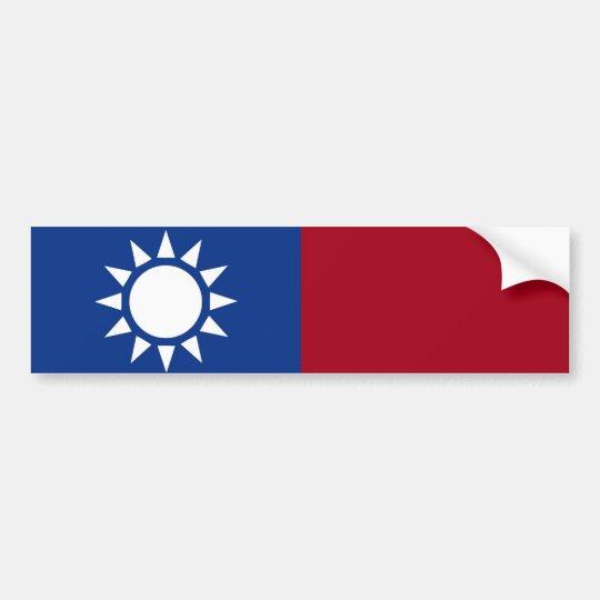 Bandera de Taiwán la República de China Pegatina Para Coche