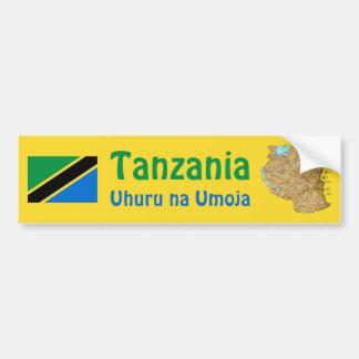Bandera de Tanzania + Pegatina para el parachoques Pegatina Para Coche