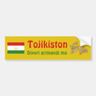 Bandera de Tayikistán + Pegatina para el parachoqu Pegatina Para Coche