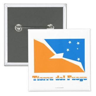 Bandera de Tierra del Fuego con nombre Pins