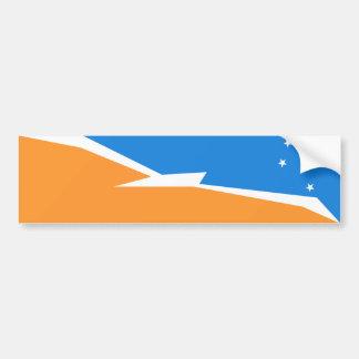 Bandera de Tierra del Fuego. Patagonia, la Argenti Pegatina De Parachoque