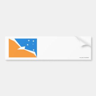 Bandera de Tierra del Fuego Etiqueta De Parachoque