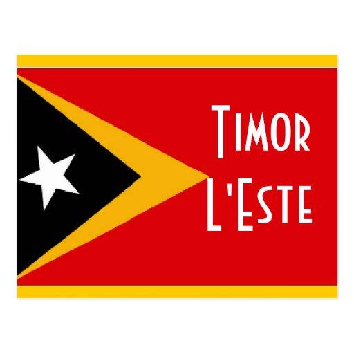 Bandera de Timor Oriental del l'Este de Timor Tarjeta Postal