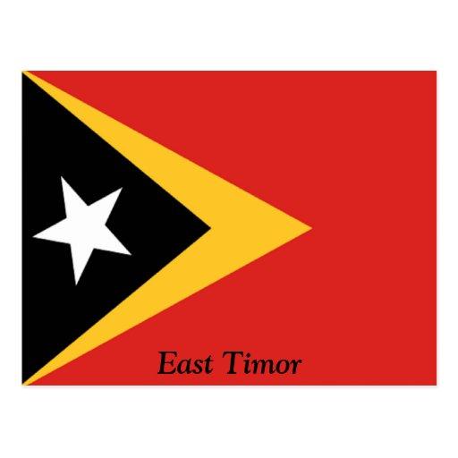Bandera de Timor Oriental Tarjeta Postal