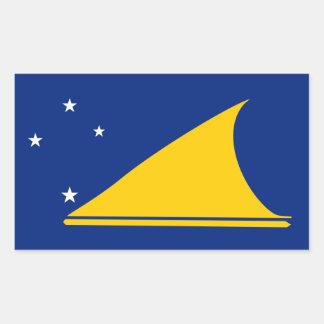 Bandera de Tokelau. Nueva Zelanda Pegatina Rectangular