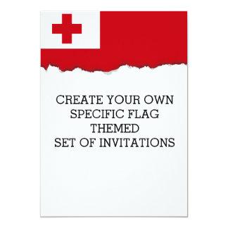 Bandera de Tonga Invitación 12,7 X 17,8 Cm