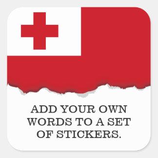 Bandera de Tonga Pegatina Cuadrada