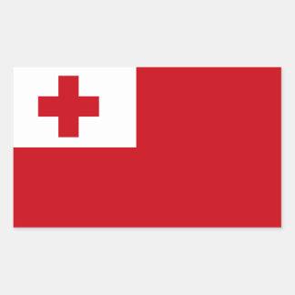 Bandera de Tonga Pegatina Rectangular