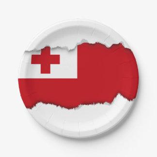 Bandera de Tonga Plato De Papel