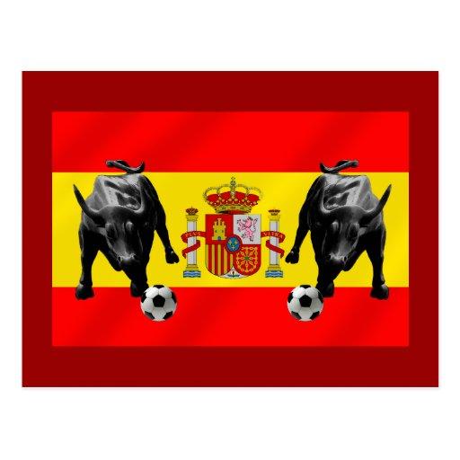 Bandera de Toro del futbol de Furia Roja del La de Postales