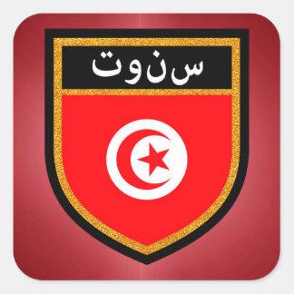 Bandera de Túnez Pegatina Cuadrada