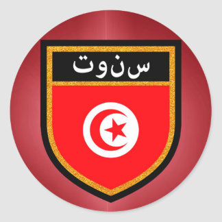 Bandera de Túnez Pegatina Redonda